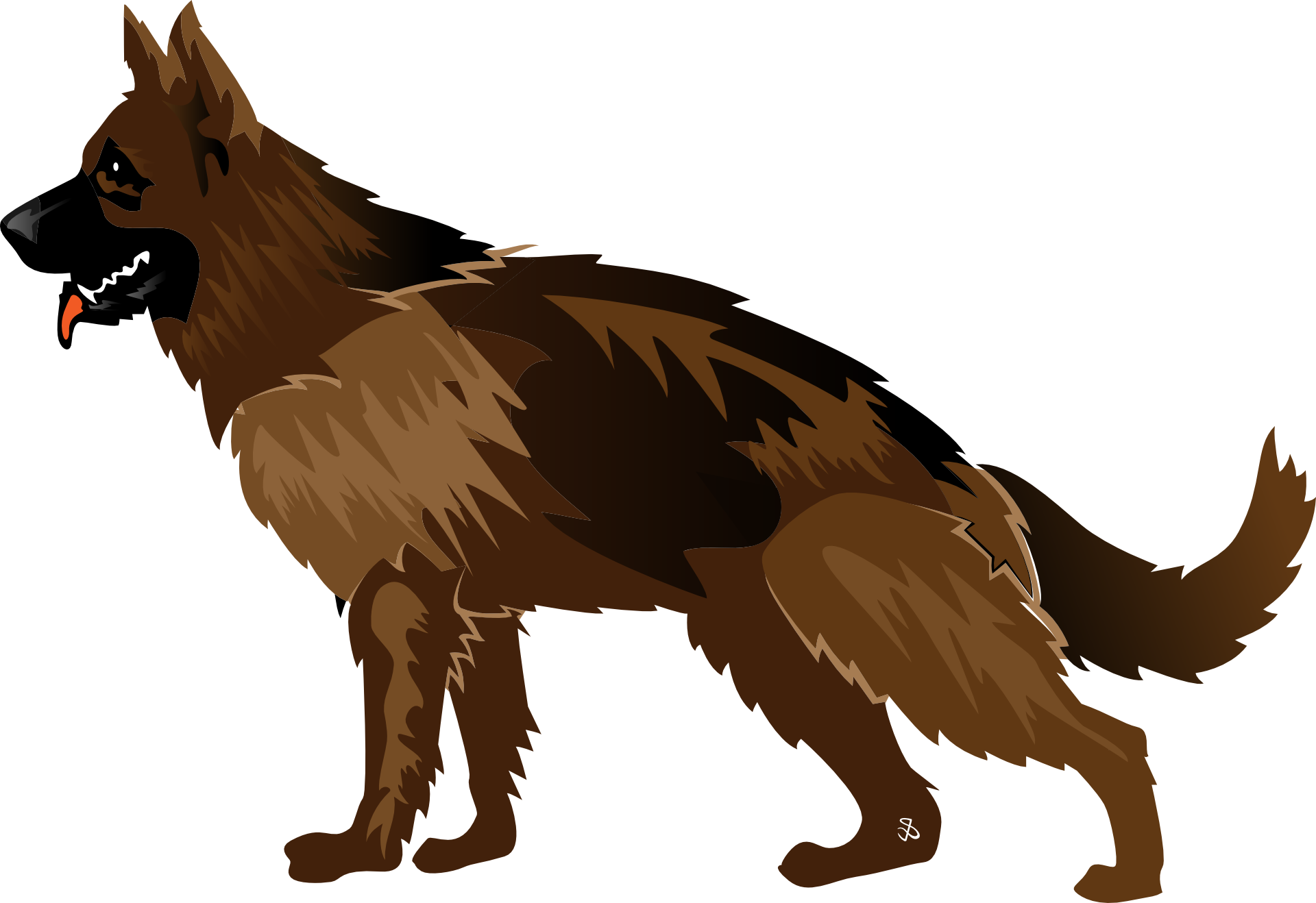 Cartoon German Shepherd